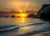 SunRise at Cathedral Cove (david t ruddock) Tags: red hahei cathedral cove cathedralcove newzealand sunrise orange