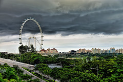 Singapore Flyer (chooyutshing) Tags: singaporeflyer ferriswheel observationwheel rafflesboulevard singapore 164mhigh touristsattraction aerialviewing marinabay