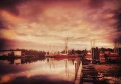 12/365 - Heaven's Turmoil (CarmenSisson) Tags: moody gulfcoast alabama bayoulabatre shrimpboats shrimping storm sunset sky cloudporn clouds