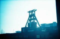 Zeche Zollverein (somekeepsakes) Tags: 2013 essen holga135 kodakelitechromeeb100 ruhrgebiet analog analogue crossprocessed deutschland europa europe film förderturm germany industriekultur lomo plasticlens toycamera xpro zechezollverein