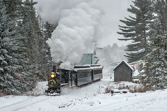 Currier and Ives (kdmadore) Tags: wwfry9 wwf wiscasset victorianchristmas steamlocomotive steam steamengine narrowgauge maine2foot railroad train alna wiscassetwatervillefarmington steaminthesnow
