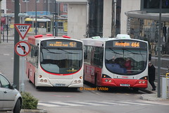Rossendale 237 (YR58 SOU), 225 (YN05 GXW) (SelmerOrSelnec) Tags: rossendale rosso scania k230ub yr58sou l94ub yn05gxw wright rochdale reading bus