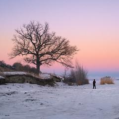 (anton.shiyan) Tags: russia saratov river volga snow winter ice sunset landscape fuji fujix fujifilm fujifilmx canon fd
