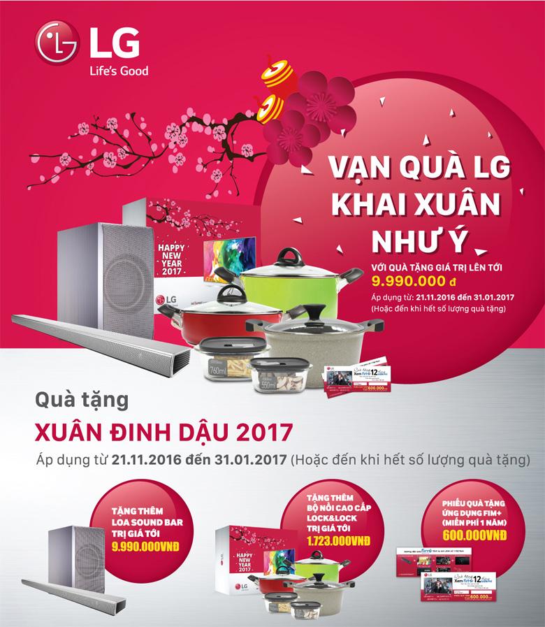 Ưu đãi Đặc biệt cho sản phẩm Điện máy LG dịp Tết Đinh Dậu tại Mediamart