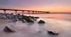 (Jona Mago) Tags: pontdelpetroli badalona cataluña catalonia spain españa playa beach mar sea marmediterraneo rocas rocks agua water cielo sky paisajemarino seascape puente bridge longexposure largaexposición