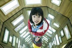 Child | Magic Mirror (藍川芥 aikawake) Tags: child magic mirror 魔鏡 moon kid littlegirl littlechild beauty awesome cute smile lovely stand lookup enjoy life 幾米 公車 bus taipei 幾米公車