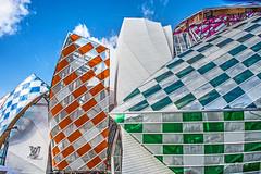 Louis Vuitton Foundation (albyn.davis) Tags: museum colors vivid vibrant modern colorful orange green blue paris france europe travel geometry light city urban