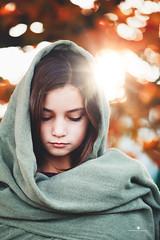 (Rebecca812) Tags: girl child shawl autumn lookingdown nature beauty chidlhood growth timeless portrait rebecca812 canon
