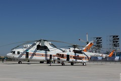 Emergency Situations Ministry (MchS) of the Republic of Kazakhstan Mil Mi-17 (Mi-171E version) in the foreground and Mi-26T UP-M1602 in the background, pictured during KADEX-2016, Astana Kazakhstan (Jeroen.B) Tags: 2016 airport defence expo kadex kazachstan kazakhstan uacc kadex2016 astana emergency situations ministry mchs mil mi17 mi171e 17 upm1703 mi26 mi26t 26 upm1602 34001212133