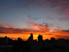 Sky line al atardecer en Buenos Aires