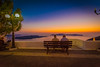 Sunset in Santorini, Greece (Ravinson's Photography) Tags: santorini sunsetinsantorini romaticdestination romanticsunset greece bluedome orthodoxcathedral orthodoxchurch restaurantsinsantorini amazing view
