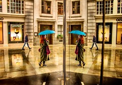 Red (Jonathan Vowles) Tags: reflection rain london red