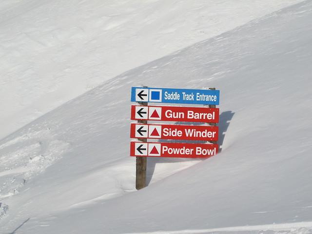Trail Sign, Treble Cone (8 Aug 2013)