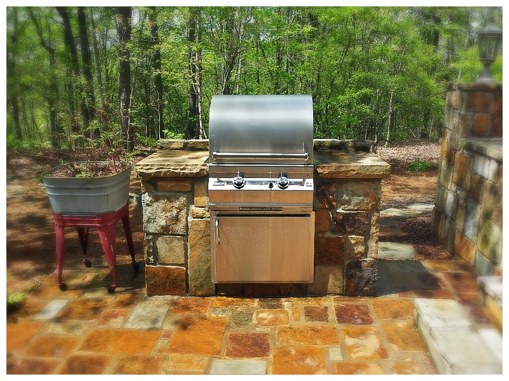 Custom Outdoor Kitchen with Fire Magic Grill. Chattanooga, Tn.