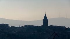 BALAT'TAN KIZ KULES (fbegemenfb) Tags: tower tourism silhouette turkey trkiye s istanbul trkei siluet balat galatatower galatakulesi amlca turizm travelturkey travelistanbul amlcatepesi samsungnx nx300 traveltoturkey amlcahill samsungnx300