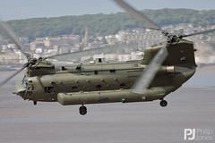RAF Chinook HC.2 ZA713 - Explored 21/06/2015 #117 (philrdjones) Tags: beach june seaside aviation airshow chinook raf westonsupermare hc2 2015 royalairforce za713 wsmairfest