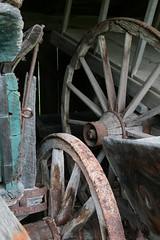 Wagon Wheels (peterkelly) Tags: ontario canada wheel digital wagon wooden rust spokes shed rusty rusted northamerica milton rim countryheritagepark