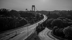 View of Sotra bridge (ANDMIK) Tags: bridge white black norway canon eos blackwhite 1022mm hordaland sotra 60d sotrabroen canoneos60d