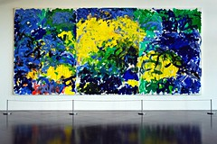 3 - Centre Pompidou-Metz Phares Joan Mitchell, La Grande Valle XIV (For a Little While) [La Grande Valle XIV (Pendant un petit moment)] (triptyque), Huile sur toile, 1983 (melina1965) Tags: blue green yellow jaune painting nikon july vert peinture bleu lorraine juillet metz moselle 2015 d80