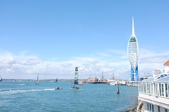 Americas's Cup - Portsmouth (Claire_Sambrook) Tags: flowers sea bar boats sailing view jetty navy floating racing solent portsmouth oldportsmouth americascup