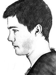 Logan Lerman (veru_needy) Tags: boy portrait people blackandwhite white man black guy art love monochrome face fan sketch stuck drawing being profile handsome jackson whitebackground gamer logan fury perks percy wallflower needy lerman veru veruneedy