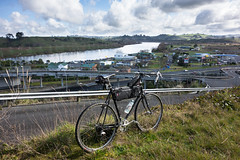 The Thriving Metropolis Of Mercer (ibikenz) Tags: bike bicycle river motorway cx mercer waikato rowing nano surly wtb gastank onone sh1 midge crosscheck waikatoriver rx100 monstercross revelate epicdesigns tanglebag sonycybershotdscrx100 tangleframebag