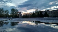 2017-01-08_06-23-36 (marinarafaelian) Tags: reflection sunset armenianchurch blue