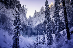 Perfect Snowy Day *Exp* (gwendolyn.allsop) Tags: ice waterfall winter snow frozen icicles oregon mt hood morning d5200