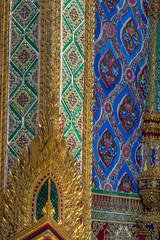 2016_04-Bangkok-M00106 (trailbeyond) Tags: architecture asia bangkok blue building gold green location outdoors pattern religiousbuilding temple templeoftheemeraldbuddha texture thailand thegrandpalace wall watphrakaew
