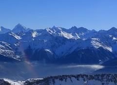 arc-en-ciel (bulbocode909) Tags: valais suisse ovronnaz montagnes nature hiver neige paysages arcenciel stratus brume bleu