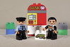 Caught red-handed ! (Busted.Knuckles) Tags: home toys lego duplo cop robber canonsl1