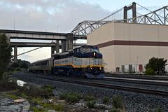 Amtrak 710 (caltrain927) Tags: union pacific railroad amtrak san joaquin passenger train ge b328wh p328wh comet comets set emd f59phi crockett california ca