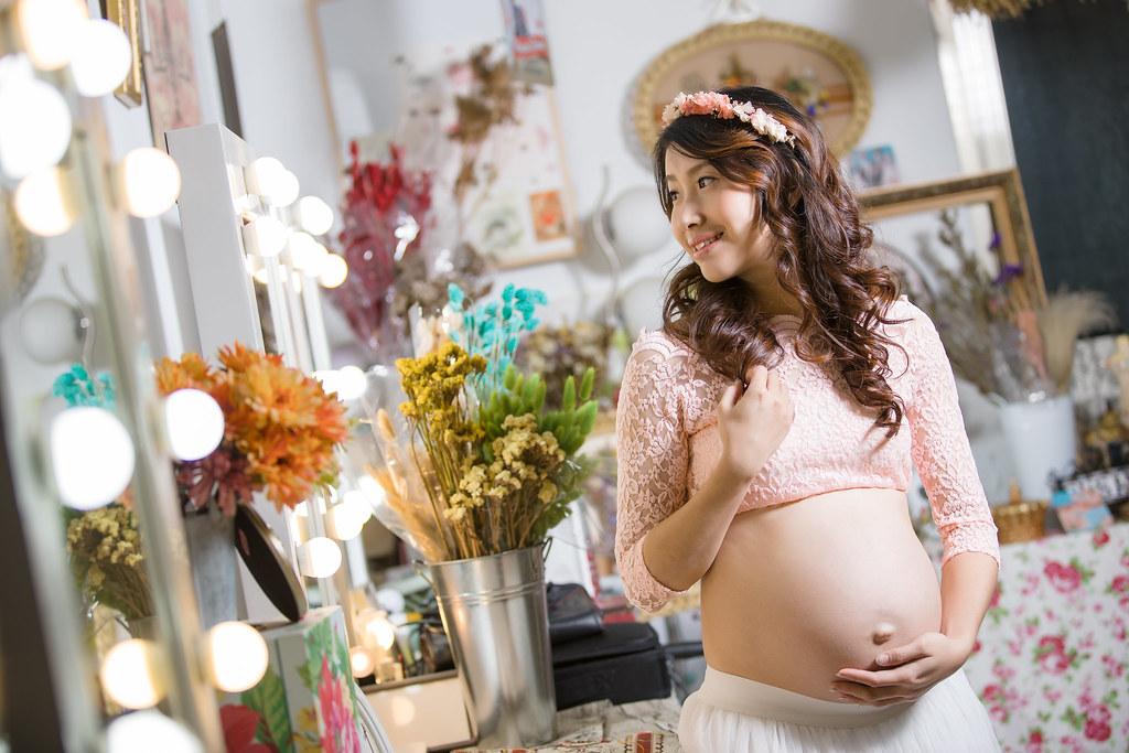 孕婦寫真,孕婦攝影,孕婦棚拍,婚攝卡樂,161217筱琪12