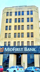The MidFirst Bank in Chickasha, Oklahoma (kevinellison62) Tags: midfirstbank artdeco architecture building oldbuilding bank chickasha oklahoma