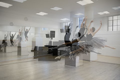 DancePhotoLondon (cath dupuy) Tags: ballet dance dancer ballerina pointe studio jete enpointe dancephotolondon rehearsal photomerge doublereflectionjumpmirrorsjumpingdouble reflectionwindowslightballet tutu movement