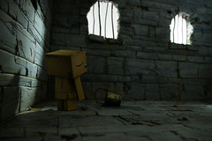 Medieval Cell w Danbo (Alden M) Tags: danbo danboard amazon revoltech robot dungeon lumix g85 panasonic
