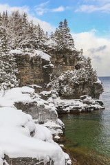 Breathtaking (Note-ables by Lynn) Tags: brucetrail brucepeninsulanationalpark georgianbay winterlandscape shoreline winter nationalparks brucecounty