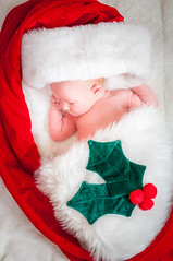 Taylor In Stocking And Santa Hat I (R P M Photography) Tags: r p m photography rpm newborn new born baby babies taylor elizabeth weiser april photos photoshoot