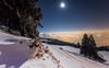 Wintertime (He_Da) Tags: breathtakinglandscapes zug zugerberg schweiz switzerland mond moon moonlight fog nebel snow schnee