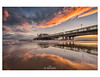 Reflections of the Pier (Emily_Endean_Photography) Tags: bournemouth pier reflections clouds sunset seascape nikon lowtide beautiful dusk