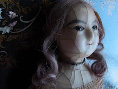 YUELIANG_slit-head wax doll_1820 (leaf whispers) Tags: wax doll antique creepy scary bizarre weird obsolete toy cracked crazing human hair real victorian 19th century 1800 old girl woman female entropy distressed madalice montanari papiermache papermache haunted spirit ghost witch lady slit slithead auction forsale head edwardian georgian death mementomori decay grief loss horror sinister haunting devil evil chiaroscuro shadow shadows mourning moon moonlight melancholia melancholy motherofpearl mop papier mache fashion queen ann anne