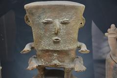 funerary jar head (cam17) Tags: colombia gold cartagena goldmuseum funeraryjar headoffuneraryjar stylizedhead jarhead jartop funeraryjarfigure