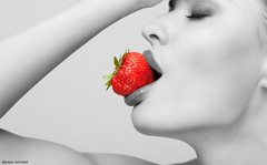strawberry eater (Osmubal Papa) Tags: attractive bare beautiful beauty berry bright color desire dessert eat eating face female flirt fresh freshness fruit girl glamour holding hunger hungry juicy lips lipstick mouth naked nude passion playful portrait red resist ripe seduce seduction seductive sensuality sex sexy skin slinky soft strawberry sweet taste tasty temptation woman yummy