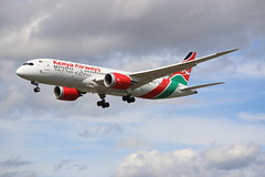 5Y-KZA (Rob390029) Tags: kenya airways 5ykza boeing 787 plane jet civil civilian aircraft aviation flying flight airborne landing finals final approach london heathrow airport lhr uk egll transport transportation travel travelling traveling