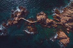 "Canyet. (¡arturii!) Tags: wow amazing awesome superb interesting stunning impressive nice beauty great arturii arturdebattk ""canonoes6d"" gettyimages travel trip tour route viatge holidays vacations drone drones dron aerial top up view above calacanyet costabrava catalonia europe spain catalunya dji path way cami snake meander curves cool visual rock beach shoreline water mediterranean sea"