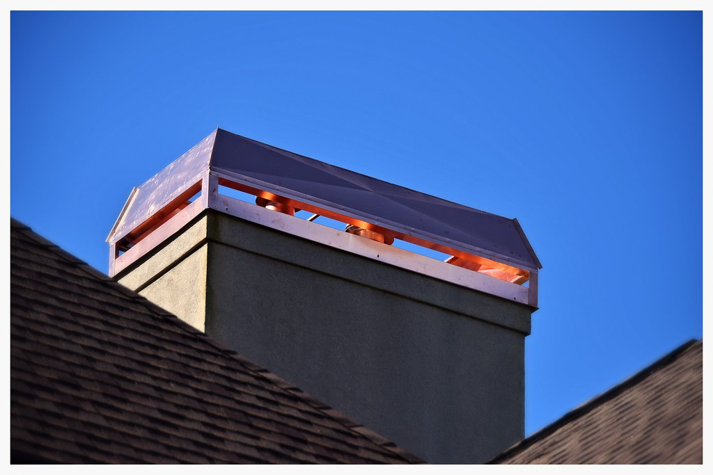"Barnhill ""Charlotte"" Chimney Top in copper with feathered edges. Chattanooga, Tn."