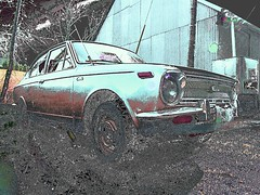'69 Corolla (Curtis Gregory Perry) Tags: auto old usa abstract color cars strange car goofy america photoshop manipulated altered truck drive weird us bucket automobile colorful driving ride unitedstates artistic wheels nuts odd rig transportation whip toyota vehicle doctored trucks motor states unusual wacky bizarre impressionist corolla transpo photomanip zany kooky changed abstact conveyance rearranged junky xe norteamericano recolored automobil       hi