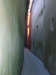 Medieval Alley, Brasov, Romania (Irish Guy's World the World Trips) Tags: park travel winter girls snow building art church window architecture alley painted palace medieval dracula backpacking romania sighisoara transylvania backpacker orthodox bucharest brasov bucuresti romanian bran peles sinaia
