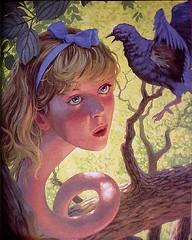 alice16 (bunnyronin) Tags: beauty childhood painting fun satire illustrations literature fantasy founddrawing aliceinwonderland greghildebrandt