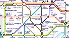 ...наверняка захотелось бы разместить... захлестнувшую... со слегка измененными названия станций лондонского метро.